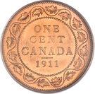 """1 cent Georges V (sans """"DEI GRATIA"""") – revers"""