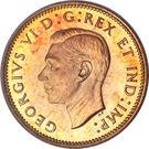 """1 cent Georges VI (avec """"ET IND: IMP:"""") – avers"""