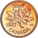 """1 cent Georges VI (avec """"ET IND: IMP:"""") – revers"""