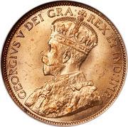 1 cent Georges V (avec