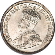 5 cents Georges V (avec