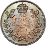 10 cents Georges V (avec