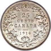 25 cents Georges V (légende avec