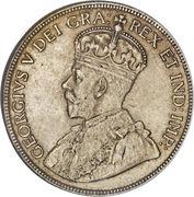 50 cents Georges V (légende avec