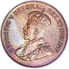 1 cent Georges V (petit format) – avers