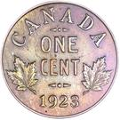 1 cent Georges V (petit format) – revers