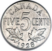 5 cents Georges V -  revers