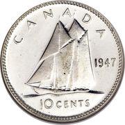 10 cents Georges VI (légende avec IND:IMP:) -  revers