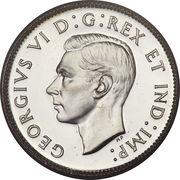 25 cents Georges VI (légende avec IND:IMP:) -  avers