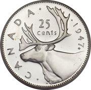 25 cents Georges VI (légende avec IND:IMP:) -  revers