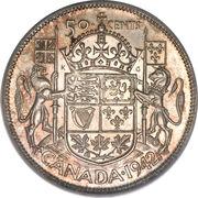 50 cents Georges VI (Légende: GEORGIVS VI D:G:REX ET IND:IMP:) -  revers