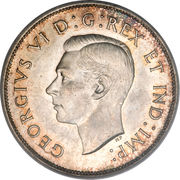 50 cents Georges VI (Légende: GEORGIVS VI D:G:REX ET IND:IMP:) -  avers