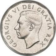 5 cents Georges VI (légende sans IND:IMP:) -  avers