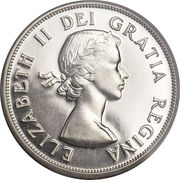 50 cents Elizabeth II (1ere effigie, armoiries de 1921) -  avers