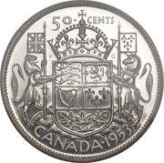 50 cents Elizabeth II (1ere effigie, armoiries de 1921) -  revers