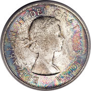 50 cents Elizabeth II (armoiries de 1957) -  avers