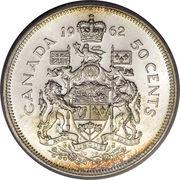 50 cents Elizabeth II (armoiries de 1957) -  revers