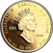 350 dollars Elizabeth II (Fleur de Mai (Nouvelle-Écosse)) – avers
