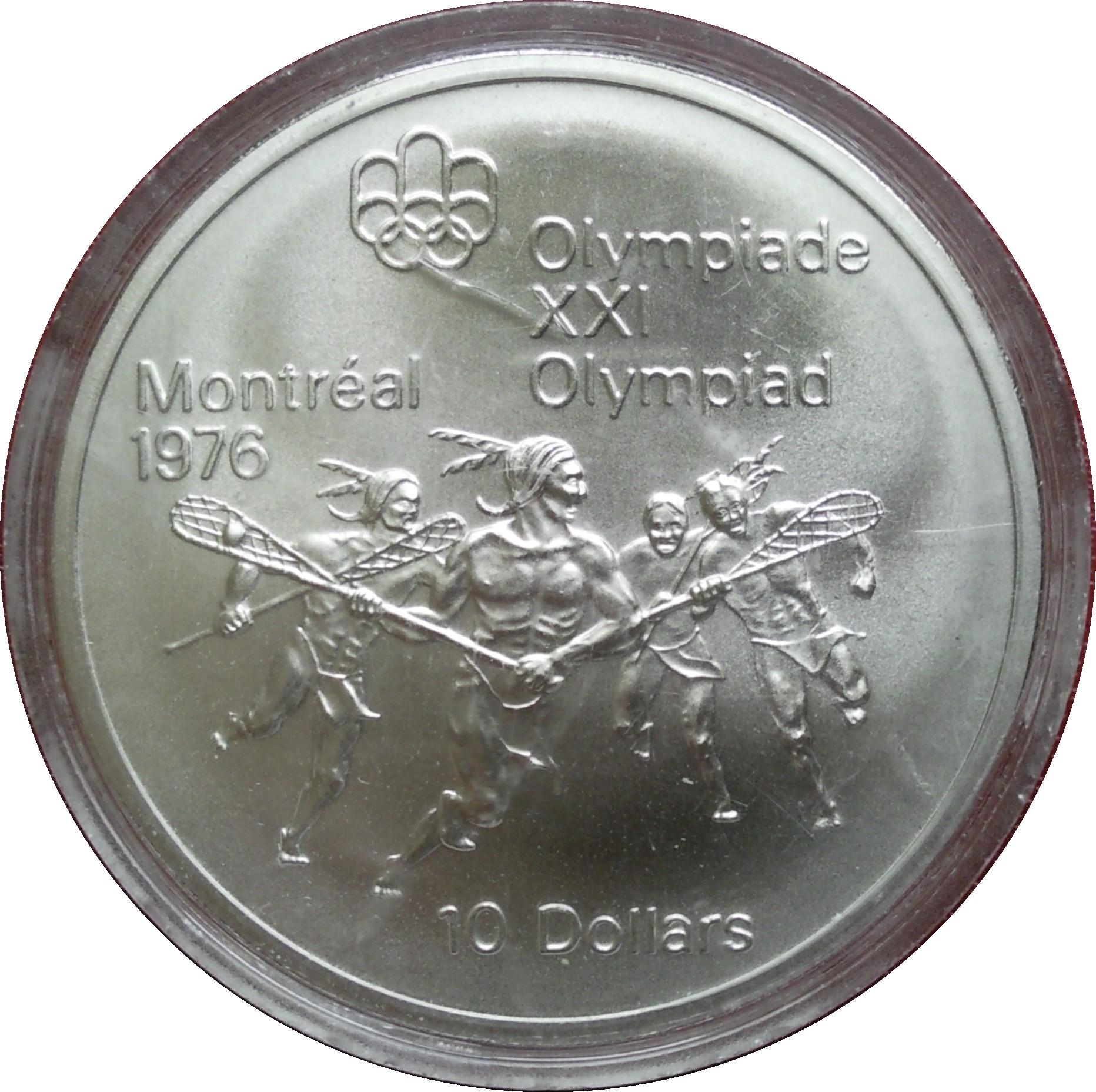10 Dollars Olympiades De Montr 233 Al La Crosse Canada