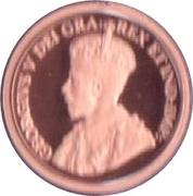 1 cent Georges V (Voyageur) – avers