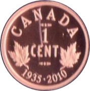 1 cent Georges V (Voyageur) – revers