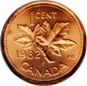1 cent Elizabeth II (2e effigie, dodécagonale) – revers