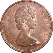 1 cent Elizabeth II (2e effigie; lourde) – avers