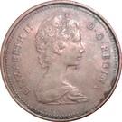 1 cent Elizabeth II (2e effigie, légère) – avers