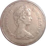 5 cents Elizabeth II (2e effigie, cupronickel) -  avers