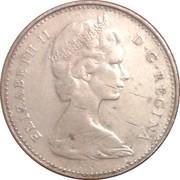 10 cents Elizabeth II (argent, Philadelphie) -  avers