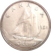 10 cents Elizabeth II (argent, Philadelphie) -  revers