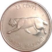 25 cents La confédération(100 ans) -  revers