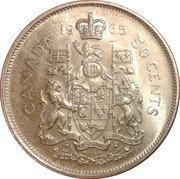 50 cents Elizabeth II (2ème effigie) -  revers