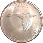 1 dollar La Confédération (100 ans) -  revers