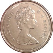 10 cents Elizabeth II (2e effigie, nickel) -  avers