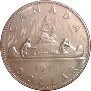 1 dollar Elizabeth II (Petite 2ème effigie) -  revers