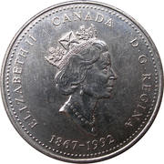 25 cents Ontario -  avers