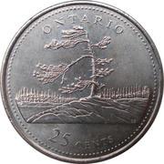 25 cents Ontario -  revers