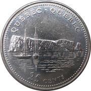 25 cents Québec -  revers