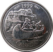 25 cents Mai 1999 – revers