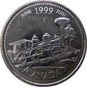 25 cents Juin 1999 -  revers