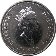 25 cents Juillet 1999 -  avers