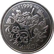 25 cents Juillet 1999 -  revers