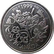 25 cents Juillet 1999 -  revers