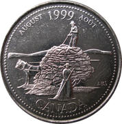 25 cents Août 1999 – revers