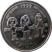 25 cents Septembre 1999 -  revers