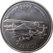 25 cents Novembre 1999 -  revers