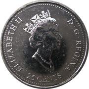 25 cents Décembre 1999 – avers