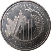 25 cents Décembre 1999 – revers