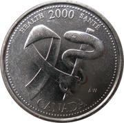 25 cents Millénaire Santé -  revers
